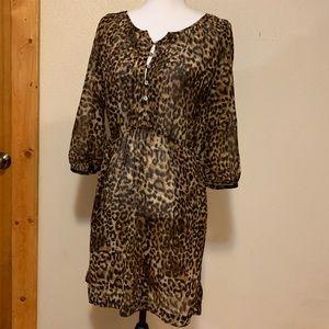 Sheer Cheetah print dress...with pockets!